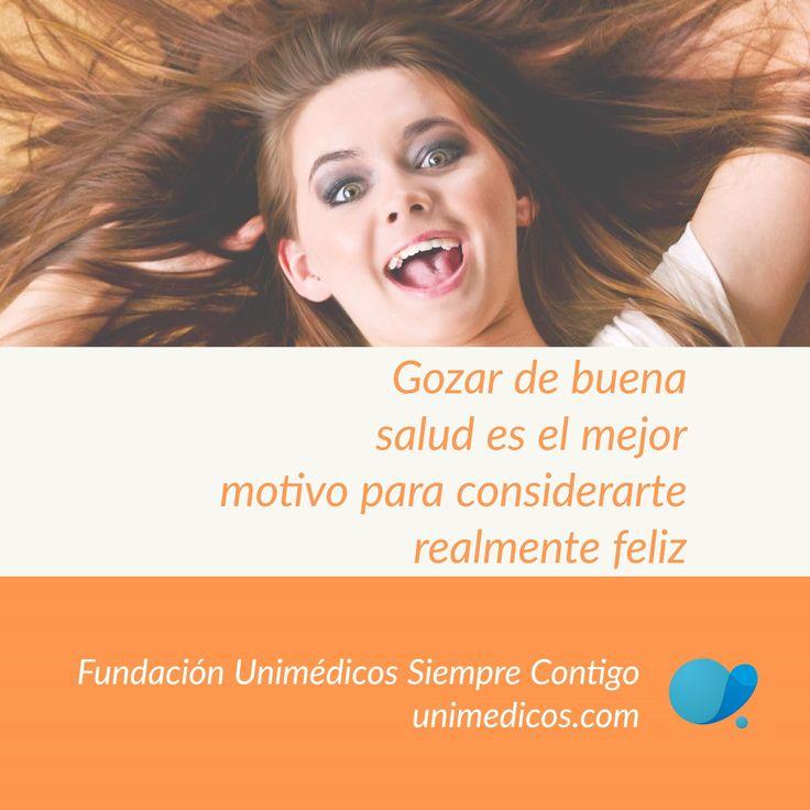 Gozar de buena #salud es el mejor motivo para considerarte realmente #feliz #FeriaDeFlores2017 #FundaciónUnimédicos #EMASiempreContigo #FelizViernes