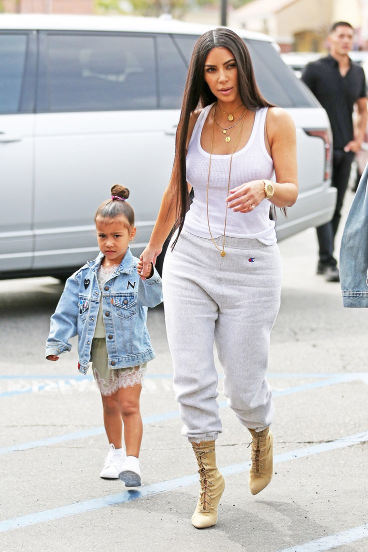 Kim & North arriving at Colour Me Mine in Los Angeles, CA - March 10, 2017