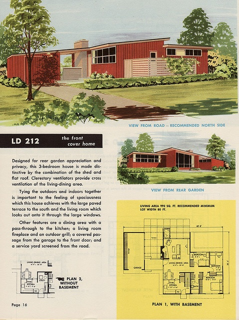 37 best images about mid century floor plans on pinterest for 1950s modern house design