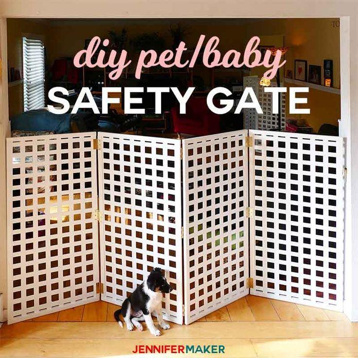Diy Pet Gate Baby Gate Freestanding Extra Wide Tall Jennifer Maker Diy Baby Gate Baby Gates Pet Gate