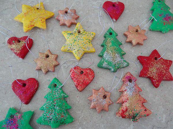 Decorazioni albero di Natale in pasta di sale