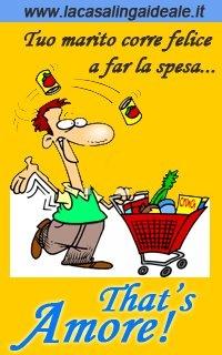 E vostro marito lo fa? Correre felice a far la spesa al vostro posto attenendosi fedelmente alla lista che voi gli avete dato...  www.lacasalingaideale.it