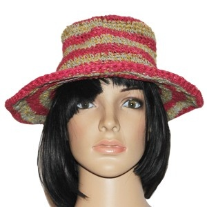 Hemp cotton round hat
