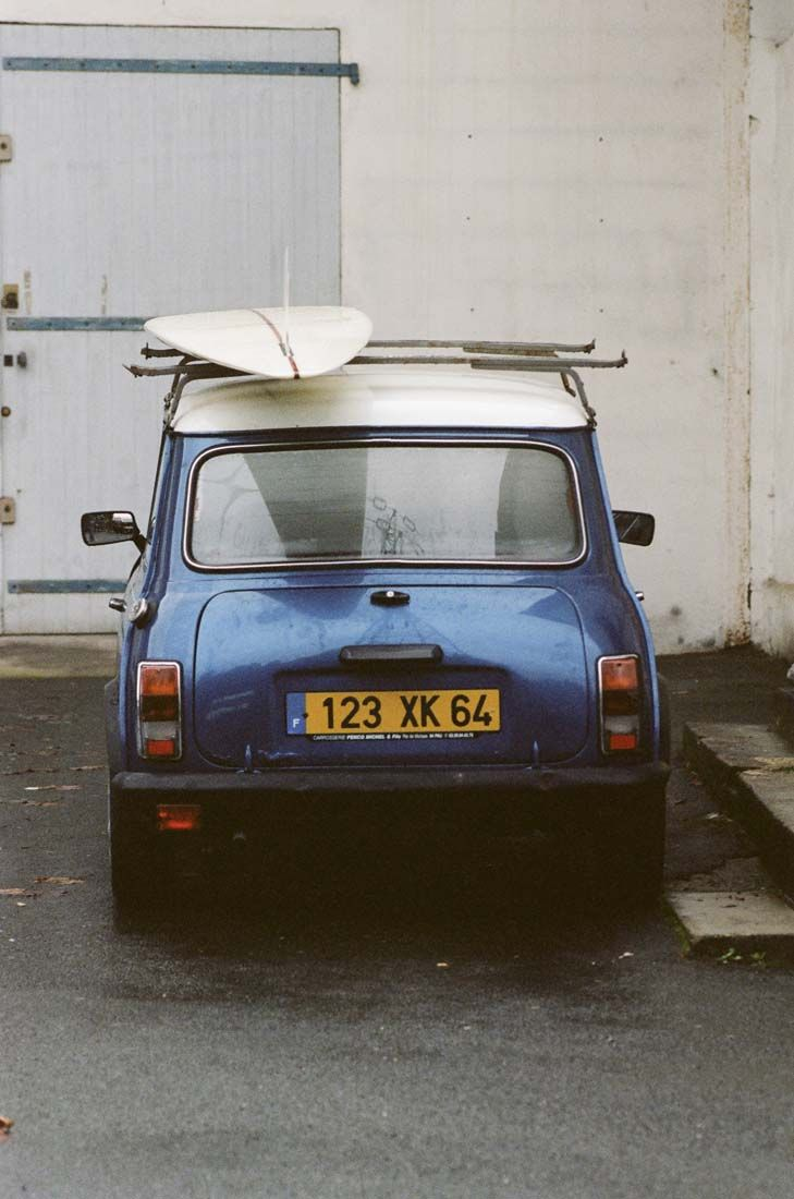 Luc s mini cooper and an eleven foot slider in france