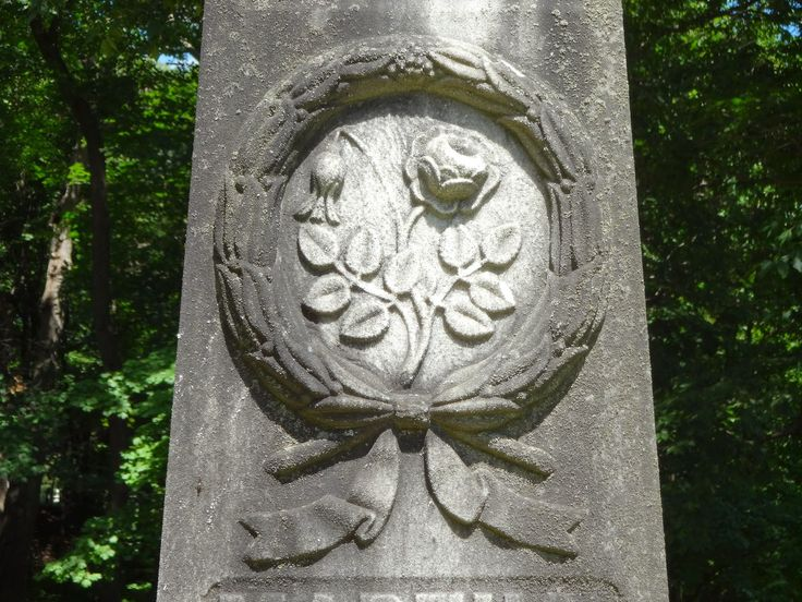 Wreath and rose - Albany Rural Cemetery