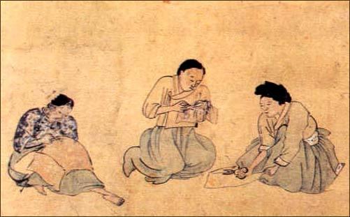 역시 한국에 살고있는 혜주, 윤지, 수빈이도 바느질을 하고 있었습니다.  (조영석, 바느질)