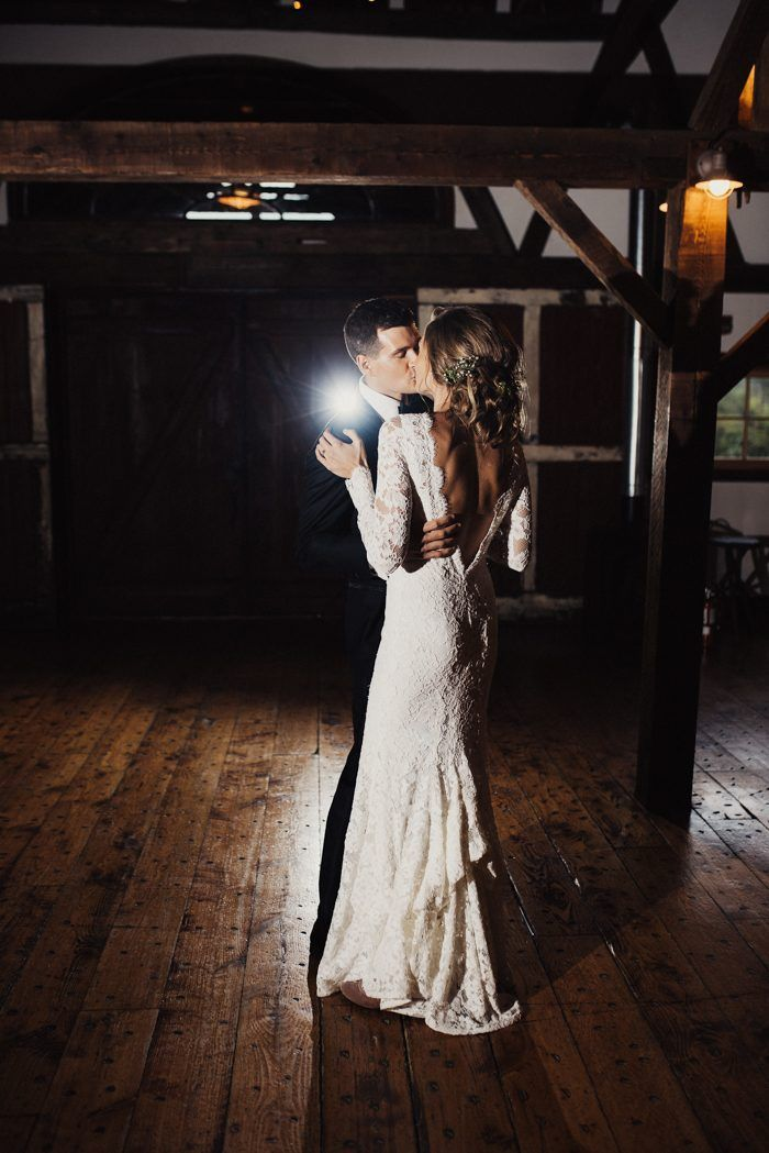 First dance feels from this intimate reception moment | Image by Eden Strader #farmwedding #countrywedding #traditionalwedding #rusticwedding #wedding #weddinginspiration #groom #groomstyle #groominspiration #bride #bridalstyle #bridalinspiration #weddingdress #weddinggown #firstdance #cutecouple #weddingportrait #coupleportrait