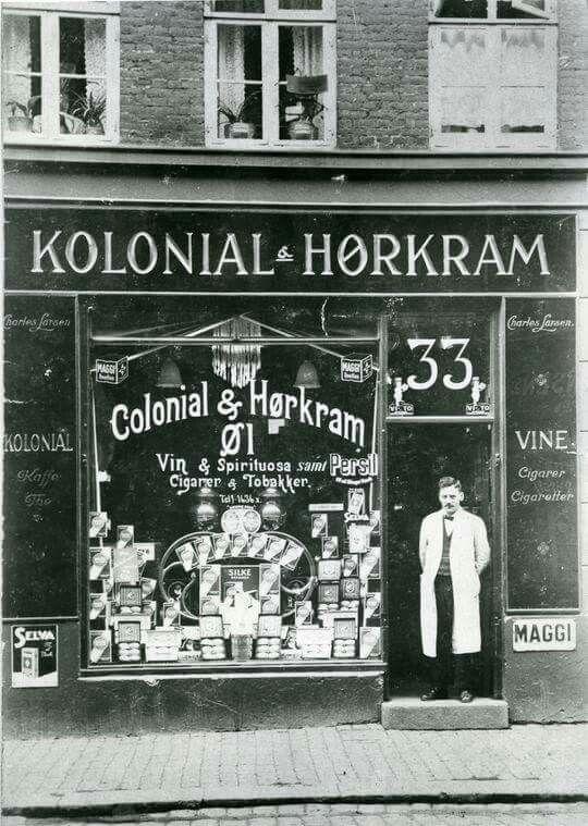 Absalonsgade 33, Kolonial - Hørkram,  ca. 1920