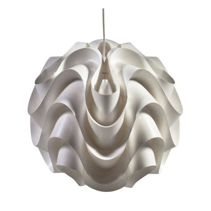Le klint white wave pendant light