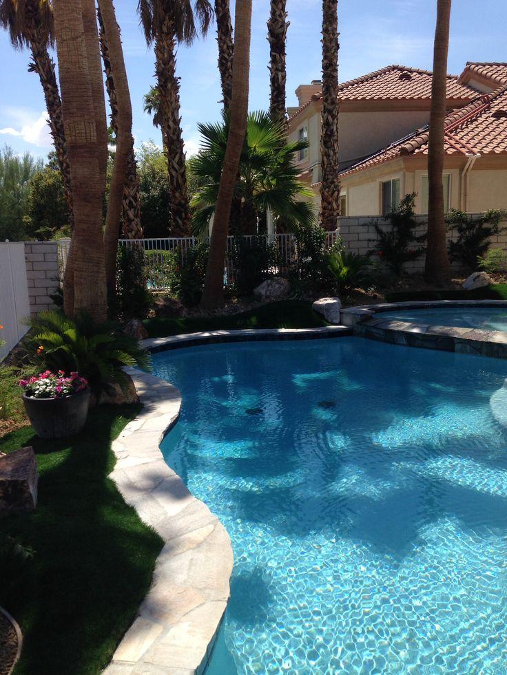 Backyard Paradise: Love The Blue Pool. Wet Edge Primera Stone Azure Treasure