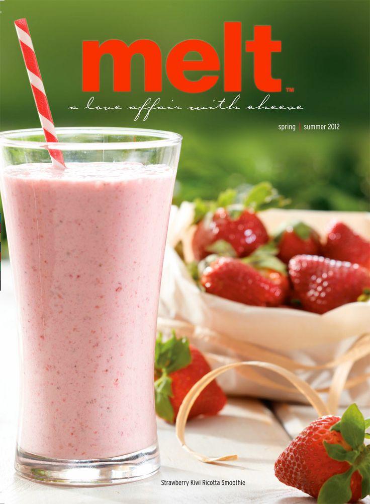 Food Photography of Strawberry Kiwi Ricotta Smoothie for Tre Stelle Spring/Summer 2012 issue of Melt Magazine [BP imaging - Bochsler Photo Imaging]