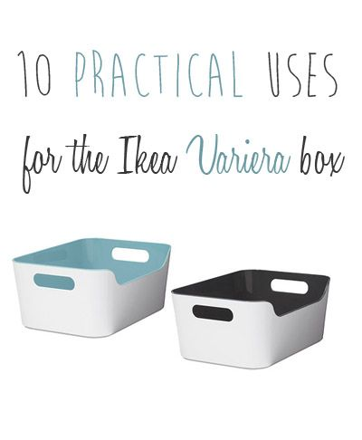 10 practical uses for the Ikea Variera box #organization