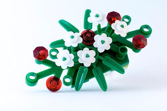 LEGO® boutonniere for prom ~ Prom flowers for guys ~ Prom boutonniere ~ Rose boutonniere ~ White Boutonniere flowers ~ Flower boutonniere  Get 30% off your first order! Details at http://www.BrickAndButton.com