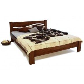 Кровать Венеция бук полуторная орех срощенная 1200 х 2000