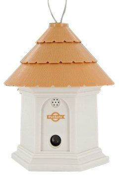 $55.78-$70.95 PetSafe Deluxe Outdoor Bark Control - The Pet Safe Deluxe Outdoor Bark Control system is the perfect way to stop your own dog or a neighbors dog from nuisance barking. The system uses ultrasonic sound to disrupt barking up to 50-feet away, and is durable and weatherproof meaning you can leave it outside. It also boasts a built in digital timer that can be programmed to turn the unit ...