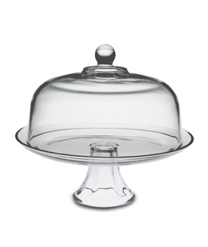 Glass Domed Cake Plate/Punch Bowl #gifts