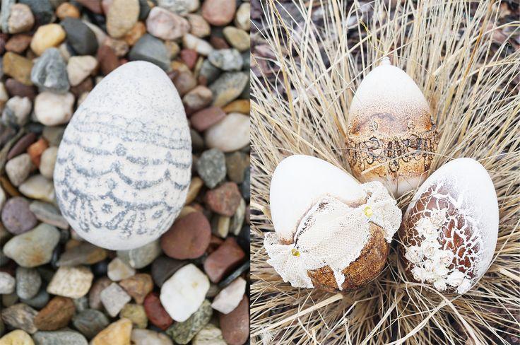 """""""Jajko jak z kamienia"""" - nietuzinkowa ozdoba wielkanocna wykonana z użyciem Powertexu."""