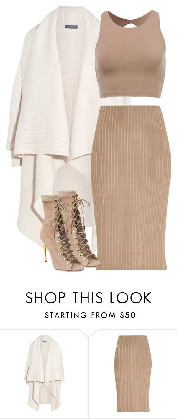 """Untitled #107"" by pariszouzounis ❤ liked on Polyvore featuring Alexander McQueen, River Island and Balmain"