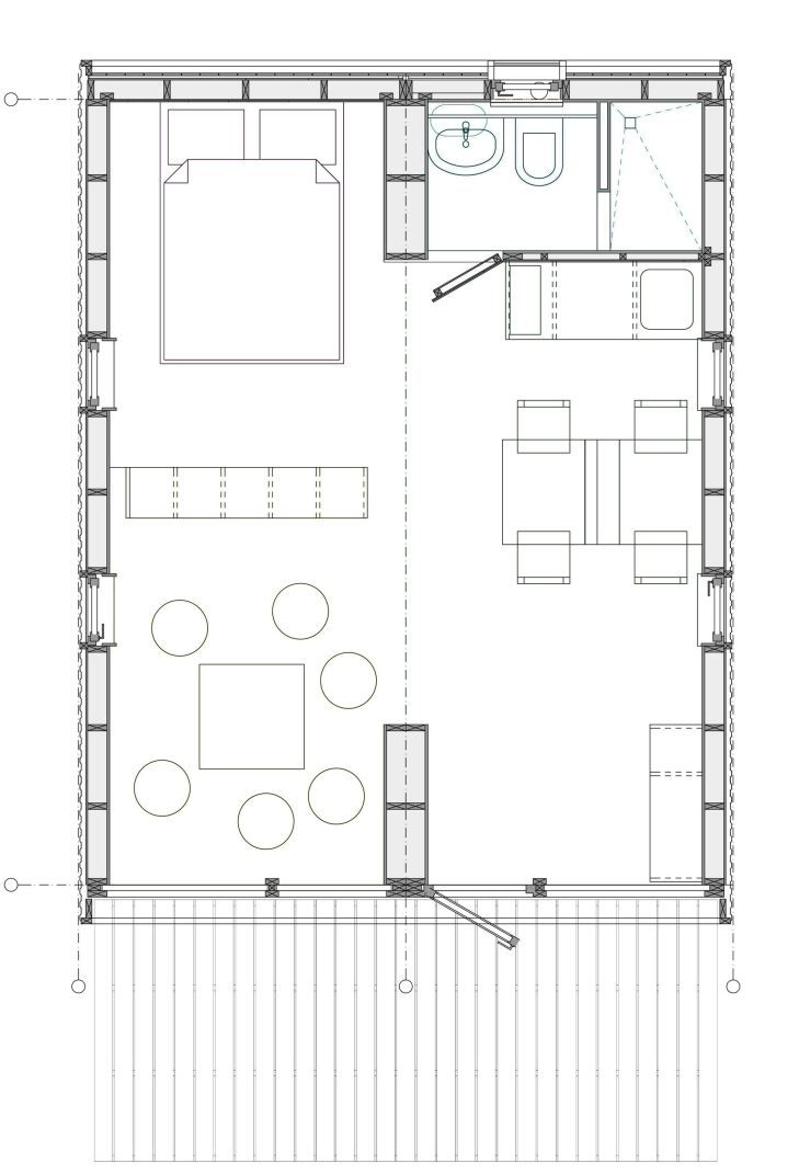 181 best tiny house blueprints studioloft images on pinterest dubldom is a tiny modular cottage manufactured in russia it has a 280 sq ft studio floor plan malvernweather Gallery