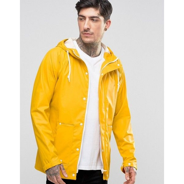 Another Influence Waterproof Hooded Rain Jacket ($53) ❤ liked on Polyvore…