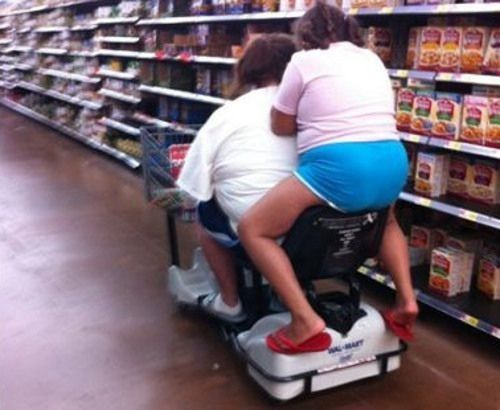 Hitchhiking at Walmart - Funny Pictures at Walmart  ---wow, just...wow lol