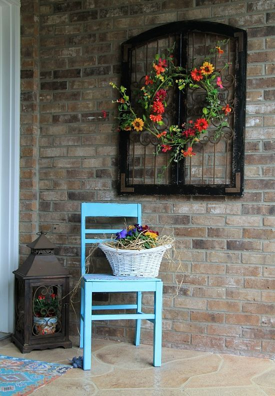 Charming rustic outdoor wall decor                                                                                                                                                                                 More