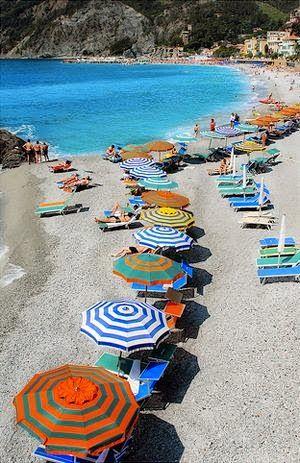 The beach in liguria, italy