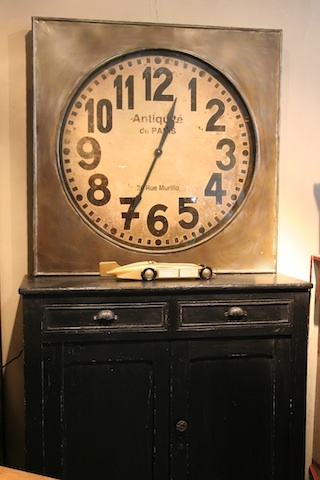 oversized replica french station clock 110 x 110cms