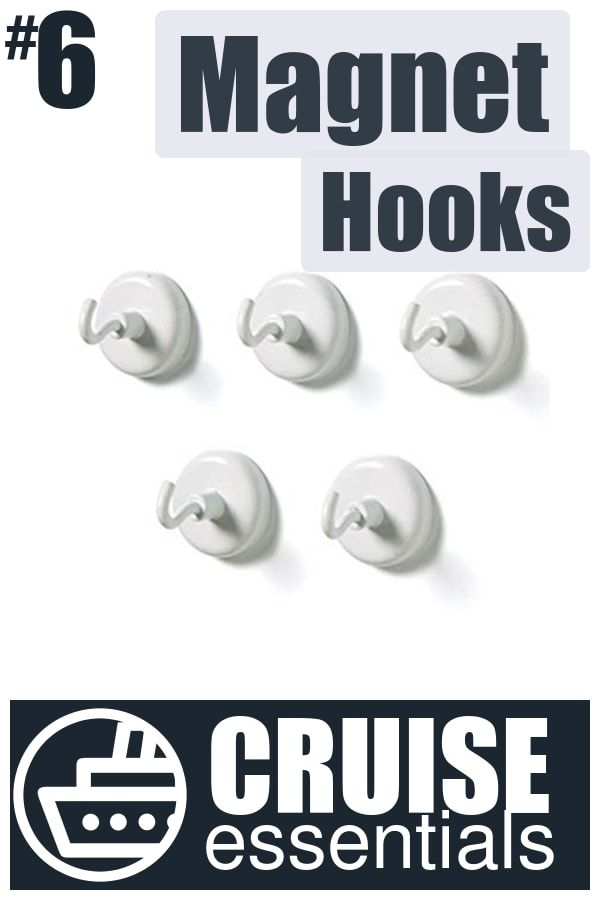 #6 – What to Pack for a Cruise  – Magnetic Cruise Cabin Hooks | Click for all 29 Cruise Essentials!