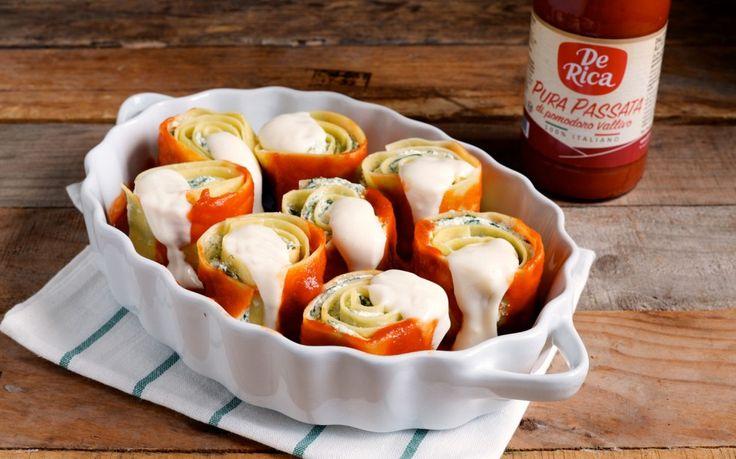 Le girelle ripiene sono un'idea originale e semplice da preparare, per portare in tavola una variante creativa delle tradizionali lasagne. Si possono farcire con ricotta e zucchine, melanzane e peperoni o anche con funghi e pancetta. In questa ricetta vi proponiamo un ripieno più leggero, a base di ricotta, spinaci e parmigiano. Ricetta per 4...