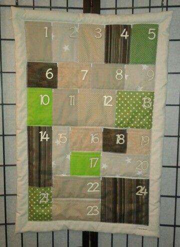 Adventní kalendář na zakázku.Barvy dle výběru zákaznice :-)