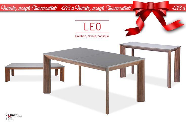 Tavolino, tavolo allungabile e consolle LEO, gambe in legno noce e piano laccato grgio tortora. Perfetti per rinnovare la tua zona dining o living. http://www.chairsoutlet.com/ita/vendita-sedie/cerca.php?q=leo