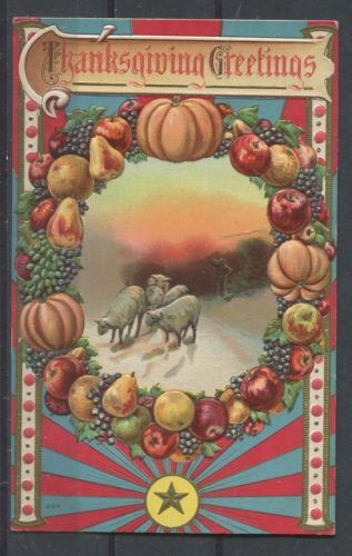 Canada #89 1c Green on 1910 Local Multicoloured Thanksgiving  Postcard - XF-88 in Stamps, Canada, Used | eBay