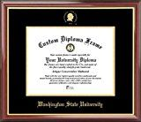 Washington State University Cougars  Embossed Seal  Mahogany Gold Trim  Diploma Frame