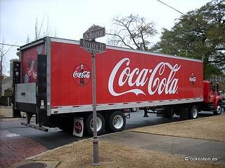 Coca-Cola Bottling Company truck in Columbus, Georgia