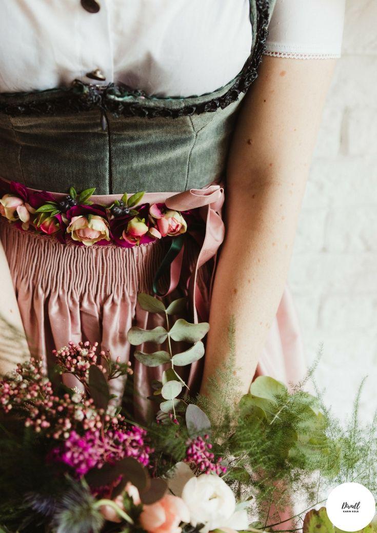 Accessoires- Blumengürtel für Dein Dirndl