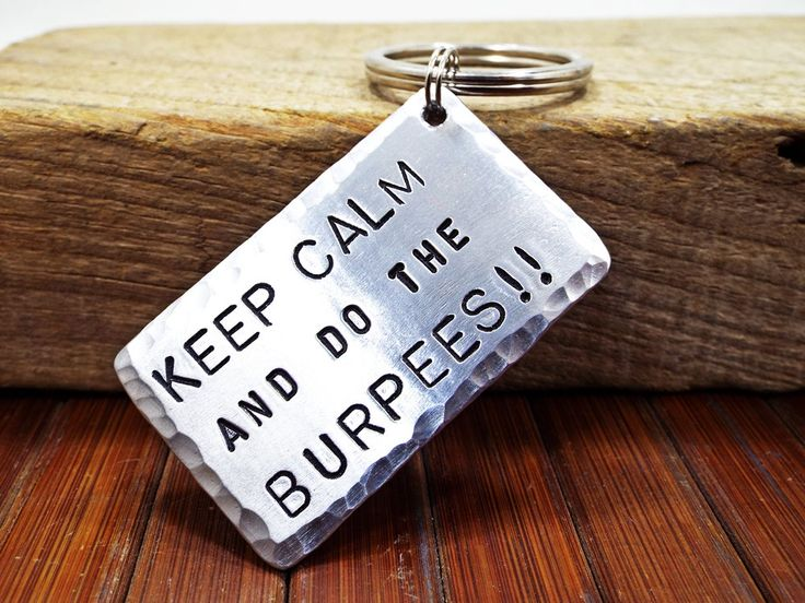 Keep Calm And Do The Burpees Aluminum Keychain - Work Of The Day Excercise - Personalized Gift for the participants of the Spartan Race by Aluminiopassions on Etsy