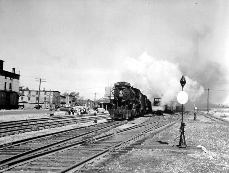 Freight train leaving Sydney Yards_Sydney_Cape Breton Island http://CaperMemories.Com