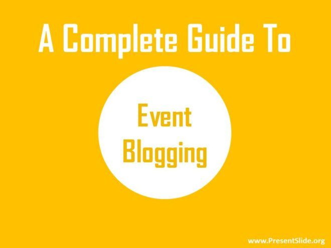 Complete Guide to Event Blogging