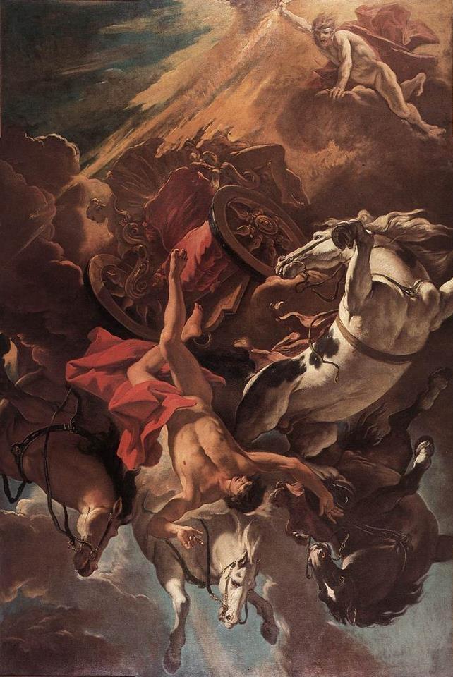 Sebastiano Ricci, Fall of Phaethon, c. 1703-1704
