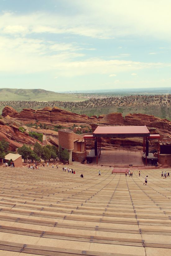 // Red Rocks Amphitheater, Denver CO // Really great in the Spring for running and hiking. Only 20 min from downtown Denver. via www.observantnomad.com