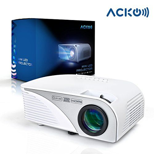 "(Acko Portable Mini HD LED Video Projector Office Home Theater 1200 LM Multimedia Outdoor 20""-150"" HDMI VGA USB AV SD Audio 1080P Smart Phone Tablet PC Computers Laptops White Warranty Included Review) Buy-Accessories.net"