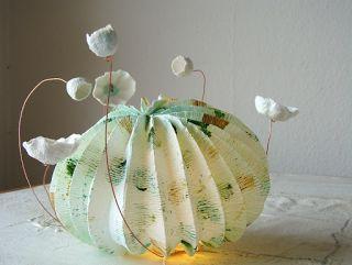 eco design-paper art-lampade di carta-origami-paper lamps-green design-handmade