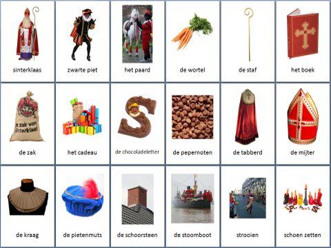 Themakaarten feesten - sinterklaas ~ Juf Milou