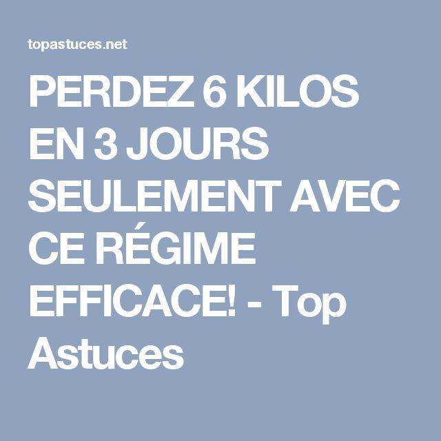 PERDEZ 6 KILOS EN 3 JOURS SEULEMENT AVEC CE RÉGIME EFFICACE! - Top Astuces