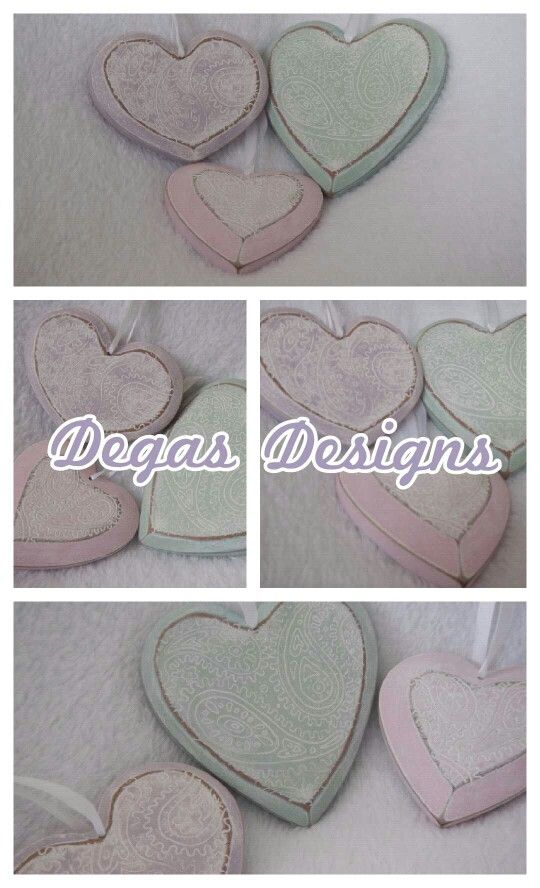 Degas designs: just for you...stunning wooden hearts.