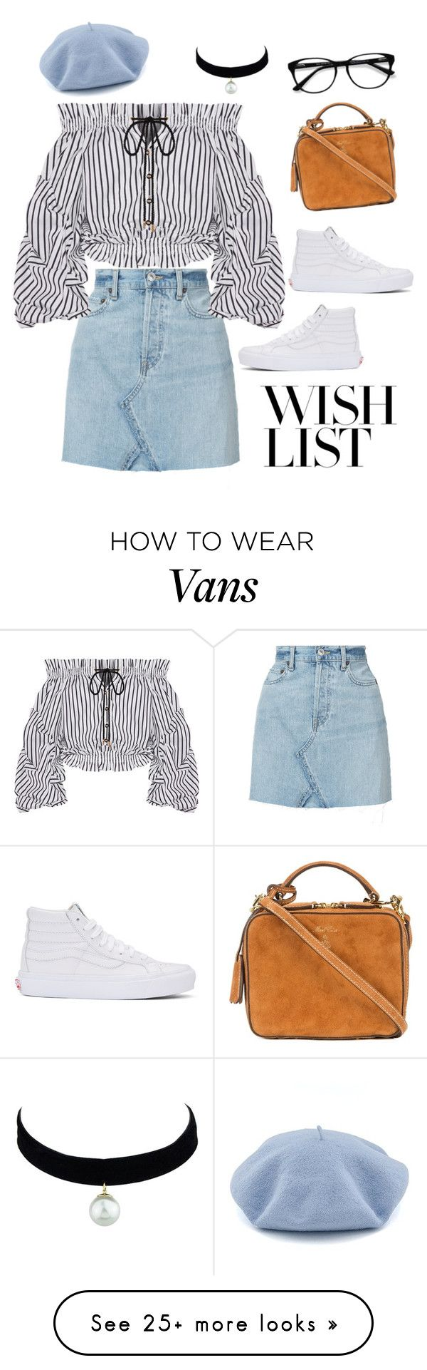 """""""#PolyPresents: Wish List"""" by amandecg on Polyvore featuring RE/DONE, Caroline Constas, EyeBuyDirect.com, Vans, Mark Cross, contestentry and polyPresents"""