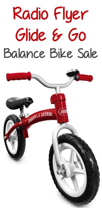 Radio Flyer Glide and Go Balance Bike Sale: $39.99! ~ these are such an easy way to help your little ones learn to ride! {check a gift off the list!}
