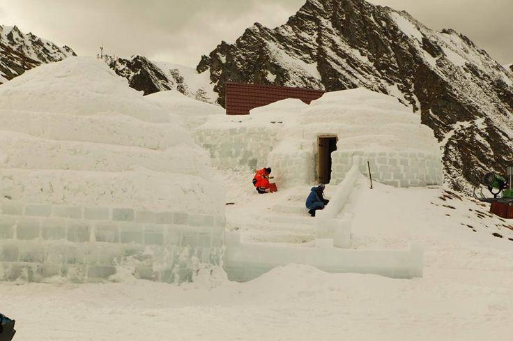 HOTEL OF ICE from Fagaras Mountains-Romania
