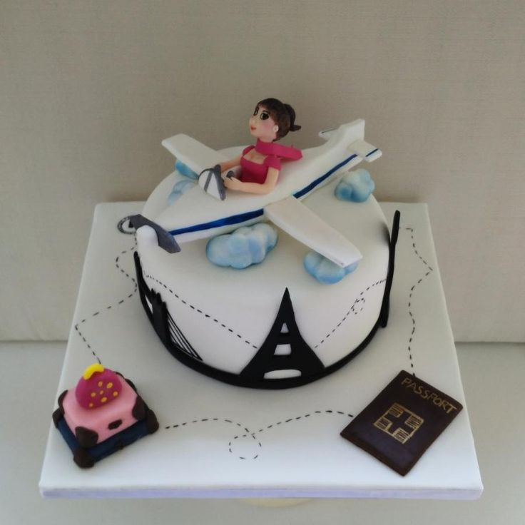 Travel Girl - Cake by nef_cake_deco